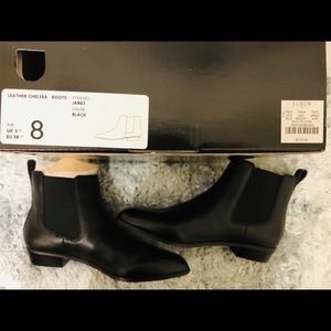 Jcrew Black Leather Chelsea boots BRAND NEW
